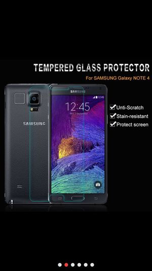 Tempered glass front screen protector Samsung Galaxy note 4 for Sale in New York, NY