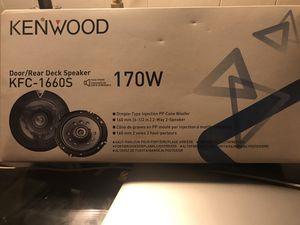 Kenwood door/rear car speakers - 1 pair 170W KFC-1660S for Sale in Amherst, VA