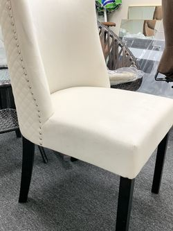 Dinning Chair 2 set -Velvet -Beige for Sale in Walnut,  CA