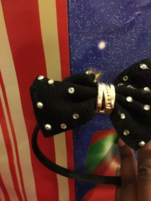 Studed black bow hair band for Sale in Detroit, MI