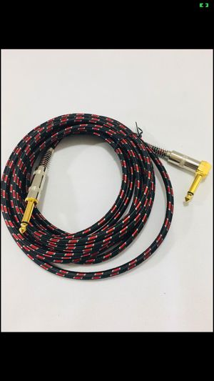 Guitar Cable, NUOSIYA 15ft Guitar Cable, Gold Plated Mono Professional Plug Audio Cable, 1/4-Inch TS Right Angle to 1/4-Inch TS Straight, Red Tweed F for Sale in Los Angeles, CA