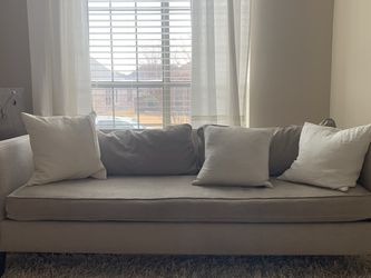 Grey Couch Sofa West Elm Comfy Free Delivery for Sale in The Colony,  TX