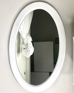 Stylish White Wooden Mirror for Sale in Claremont, CA