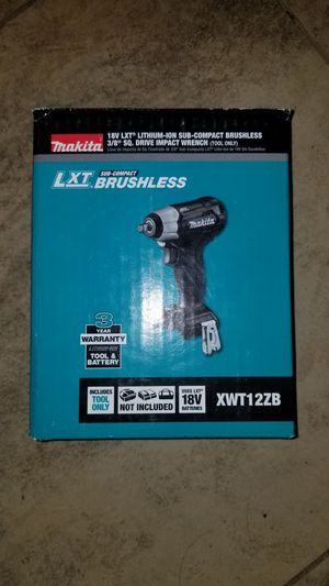 New Makita 18-Volt LXT Lithium-Ion 3/8 in. Square Impact Wrench for Sale in Hemet, CA