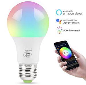 7w Google assistant Alexa RGB Multicolor WiFi Remote E26 E27 LED Smart light bulb for smart home BRAND NEW!!! for Sale in Orlando, FL