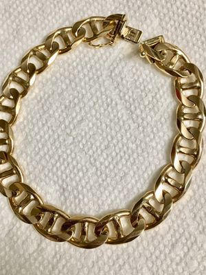 14k solid Gold Bracelet 9 inches Long, 9mm wide, weight almost 36 grams for Sale in Waterbury, CT