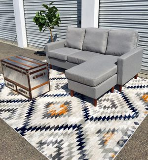 Brand new reversible grey upholstery sectional mid century modern for Sale in San Diego, CA