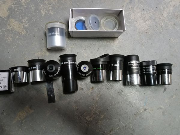 Telescope eyepieces 1.25 inches . FROM 40$ EACH to 80$Each message me for prices and mm size u want
