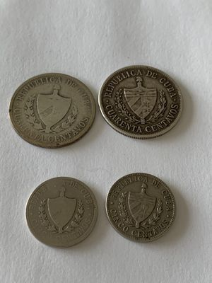 4 silver Cuba coins for Sale in Quincy, MA