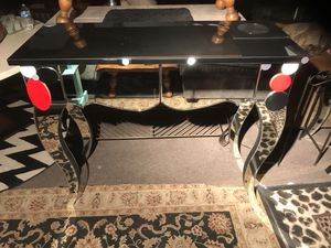 Abstract Design Beveled Mirror Console Table w/ 2 Drawers for Sale in Las Vegas, NV
