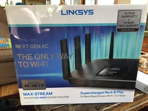 LINKSYS AC5400 Gigabit Router for Sale in Seattle, WA