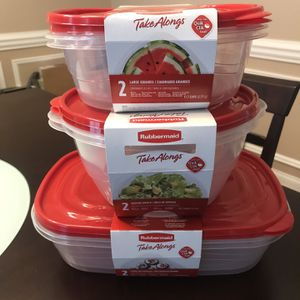 New Rubbermaid Large Food Storage Containers for Sale in Sandy Springs, GA