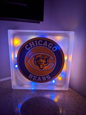 Chicago Bears custom Glass Light Block for Sale in Knoxville, TN