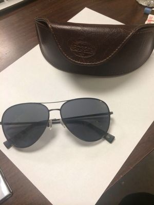 Fossil sunglasses and leather case for Sale in Hyattsville, MD
