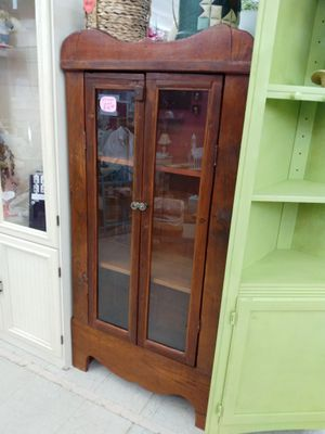 Gorgeous little primitive cabinet / small wooden cabinet antique vintage for Sale in Fort Worth, TX