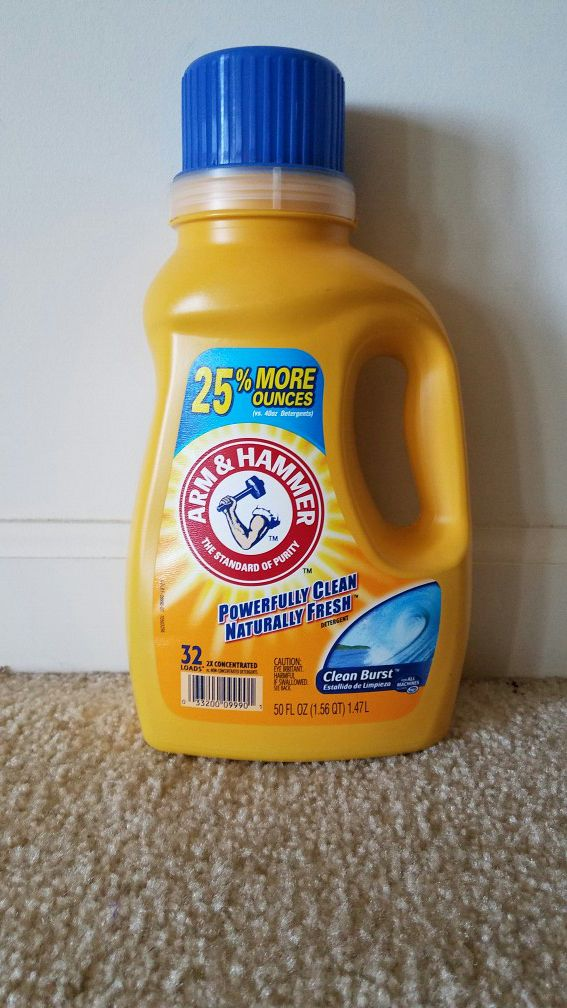 3 new Arm and Hammer liquid laundry detergent 50 oz for $10. Price is firm.