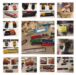 Vintage 46 piece train set for Sale for sale  Newark, NJ