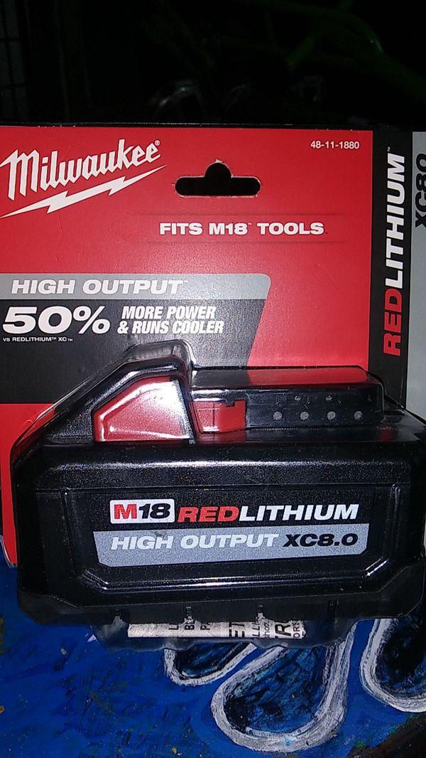 Milwaukee power tool battier