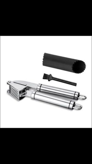 Stainless Steel Garlic Press Crusher and Mincer, Including 2 Free Bonuses for Sale in Corona, CA