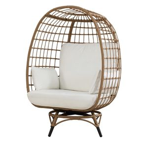 Wellow Baytree Swiveling Egg Chair with Cushions for Sale in Queens, NY