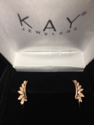 10k rose gold diamond climber earrings brand new never worn for Sale in Lakewood, OH
