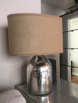 Beautiful Silver And Burlap Lamp for Sale in Los Angeles,  CA