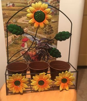 Sunflower kitchen or outdoor flower pot planter for Sale in Nashville, TN
