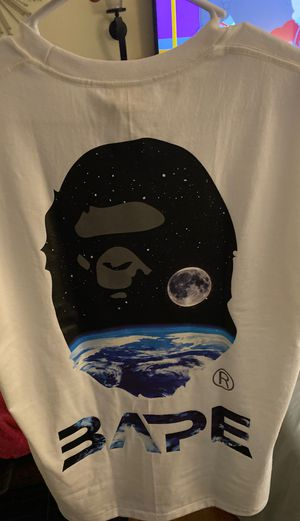 2 BAPE a bathing ape s20 fresh drops white mid autumn festival reflective tee and black glow in the dark fresh brand new with receipts for Sale in Miami Beach, FL