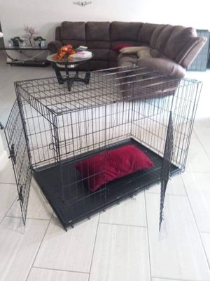 Dog kennel cage BRAND new clean TRAINING crate house X Large double door foldable for Sale in Phoenix, AZ