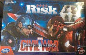 Hasbro Gaming Marvel Captain America Civil War Risk for Sale in San Antonio, TX