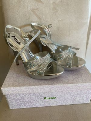 Silver heels for Sale in Paramount, CA