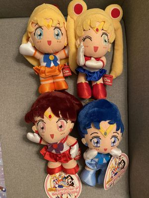 Rare Vintage Sailor Moon 10th Anniversary Anime Collector Plush Set GREAT CONDITION for Sale in Los Angeles, CA