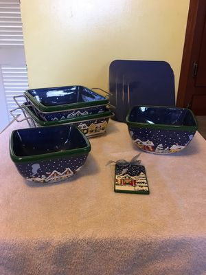 Temp-rations Presentable Ovenware set - Cobalt Blue Snowy Nights for Sale in Annandale, VA