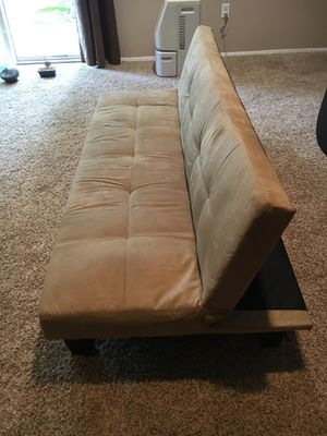 Suede Futon for Sale in Rockville, MD
