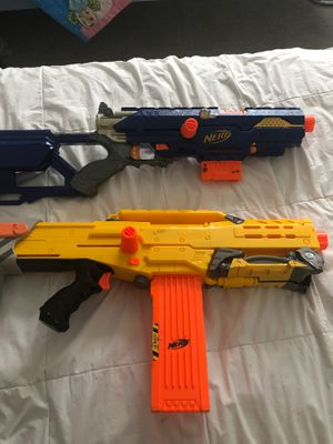 2 nerf guns no (bullets included) for Sale in Happy Valley, OR