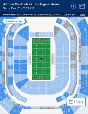 Az Cardinals Vs LA Rams Dec 1 2019, 2pm for Sale in Gilbert, AZ