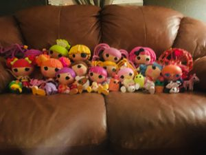 14 lalaloopsy + 12 accessories like new $100 obo for Sale in North Las Vegas, NV