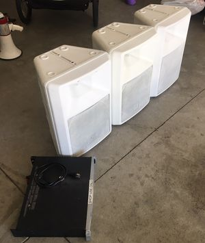 "Qsc Plx3602 Professional Power Amplifier Plx 3602 and... (3) EV 12"" Passive Loudspeaker. All 3 speakers and amp for $599 for Sale in Romoland, CA"