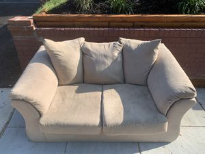 Curb Alert- FREE Ashley Furniture Tan Loveseat Couch for Sale in Washington, DC