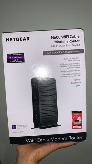 Netgear N600 Wi-Fi Cable Modem Router for Sale in West New York, NJ