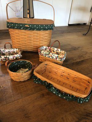 Original Longaberger basket collection. Worth over $500. for Sale in Nashville, TN