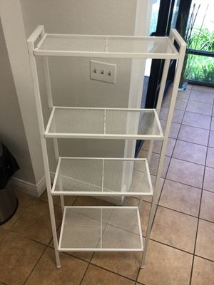 4-Shelf Metal Ladder Book Shelf Open Bookcase White or black for Sale in Chino, CA