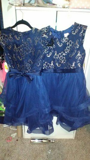 Blue Pretty Dress with gold trim for Sale in Hillsboro, MO