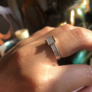 925 Sterling Silver CZ Wide Ring Size 6.5 for Sale in Manassas, VA