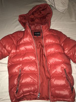 Red Guess Puffer jacket Size M for Sale in Adelphi, MD