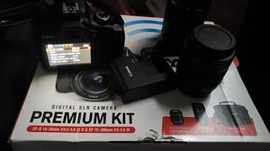 Rebel T6 Canon Camera Battery pack & 2 Lenses for Sale in Cleveland, OH