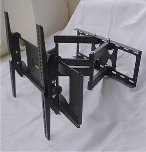 New in box universal 32 to 65 inch swivel full motion tv television wall mount bracket 120lbs capacity includes hardware screws soporte de tv FREE HD for Sale in Whittier, CA