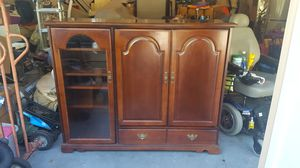 Cherry Media Cabinet on Wheels for Sale in Hillsboro, OR