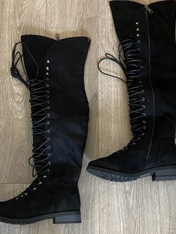 BlackTravis 05 Women Military Lace Up Thigh High Combat Boot for Sale in Las Vegas,  NV