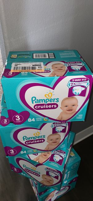 Diapers size 3 pampers cruisers for Sale in Vancouver, WA